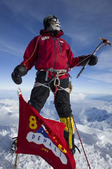 2014年6月23日、第3弾で挑戦したデナリ山頂に立つ石川和則代表