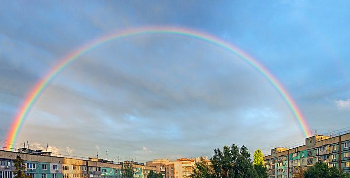 春の虹を見ましたか? 七十二候では虹が出始める時期「虹始見」となります