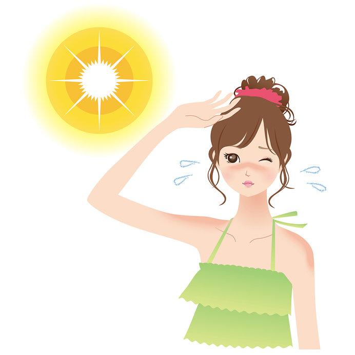 赤くなる日焼けの後、肌を守るのがメラニンです