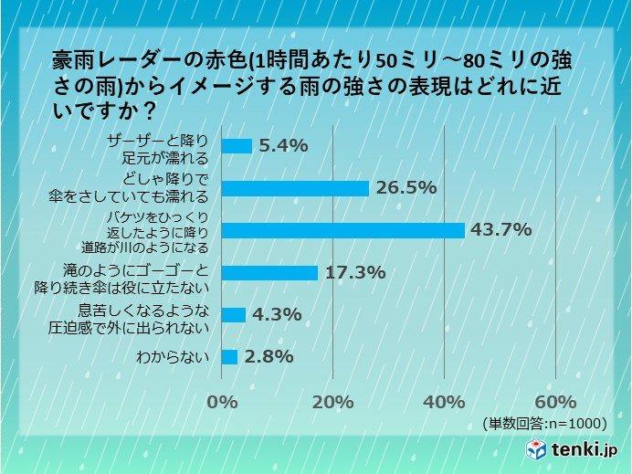 降水量から雨の強さをイメージできますか?実は過小評価している人が7割超え_画像