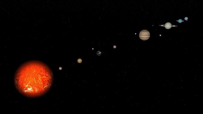 太陽からの距離も地球に近い金星