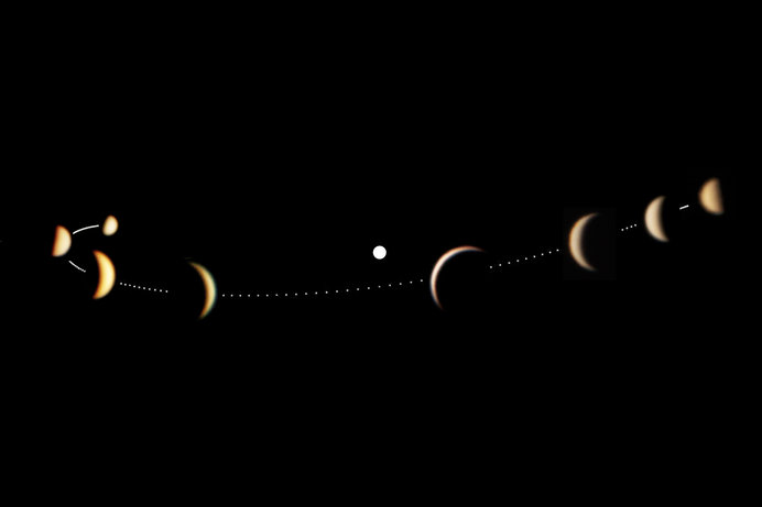 金星も月のように満ち欠けをする