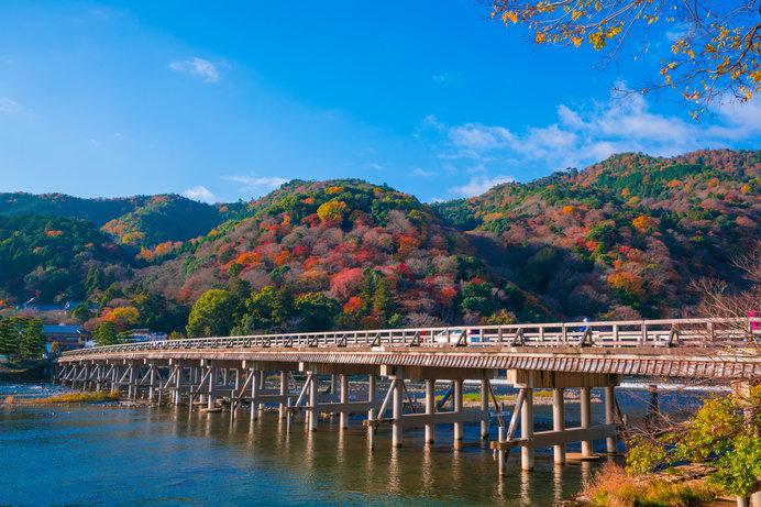 嵐山のシンボルといえば、渡月橋です!