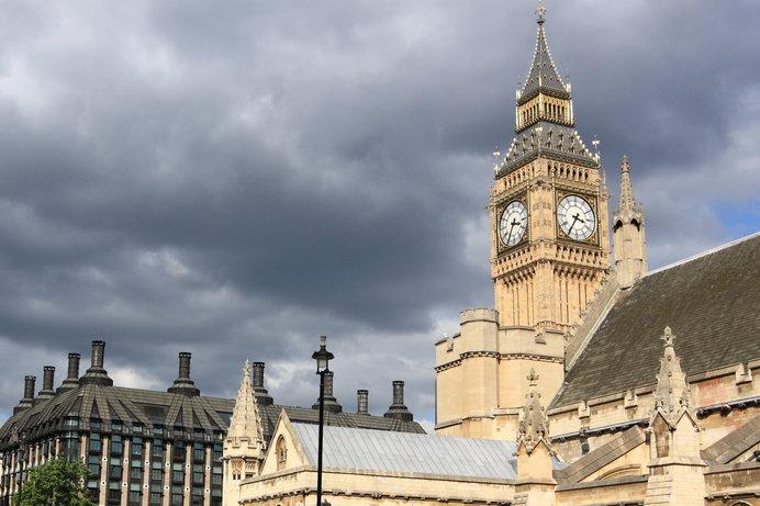 年間を通して、曇天の空模様が多い英国