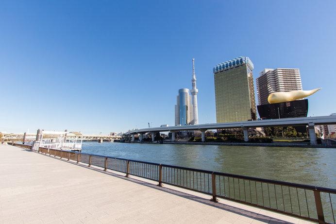 隅田川沿いはフォトスポットも満載!