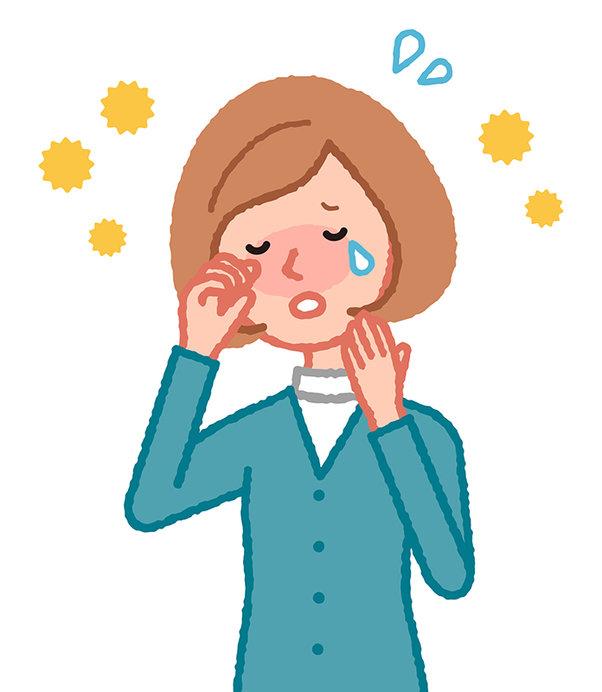 目をゴシゴシする前に、目薬などを活用してこすらないようにしましょう