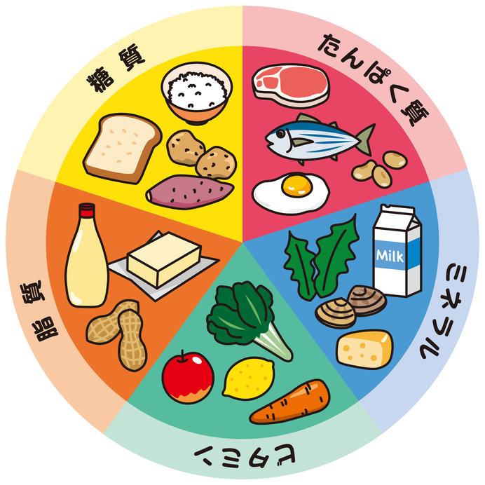 さまざまな栄養素をまんべんなく摂るように心がけよう