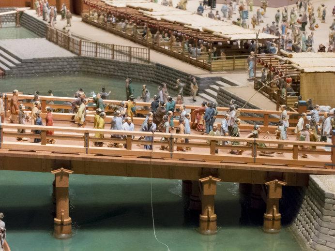 江戸東京博物館のミニチュア(両国橋)
