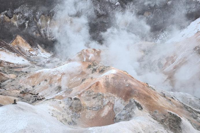 ごっこが獲れる函館の恵山地区には、活火山がある
