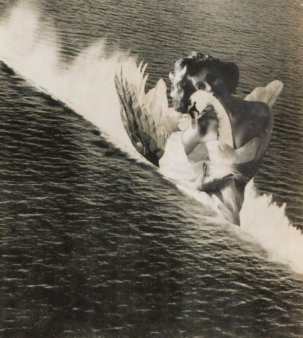 《海のレダ Leda in the Sea》©Okanoue Toshiko,  個人蔵1