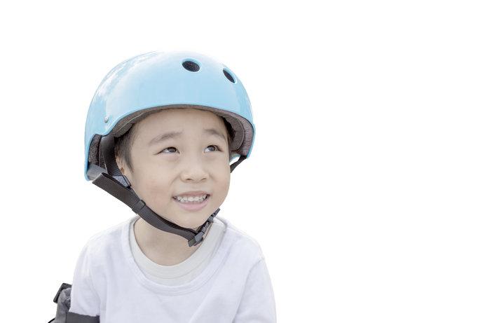 ヘルメットで、頭部を守りましょう