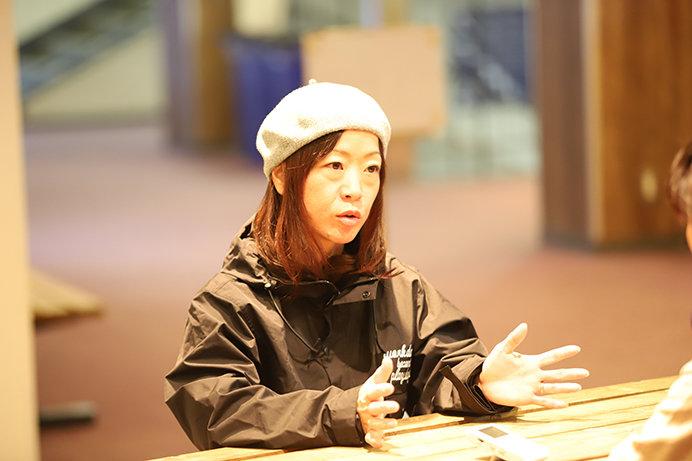 「爽快感を家族と共有できること」がスノーボードの魅力のひとつと語る伏見知何子さん