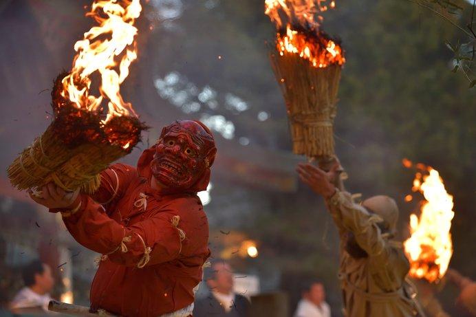 神戸長田神社の「古式鬼やらい神事」