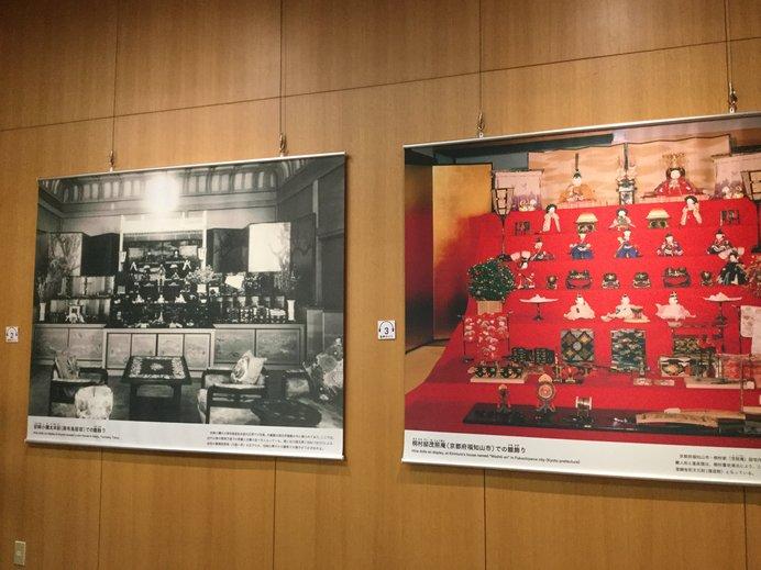 左が旧岩崎家、右が桐村家の展示風景