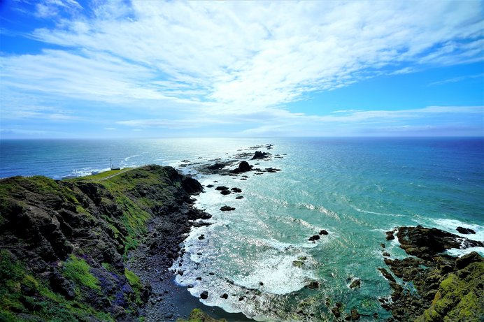 岬の向こうは太平洋