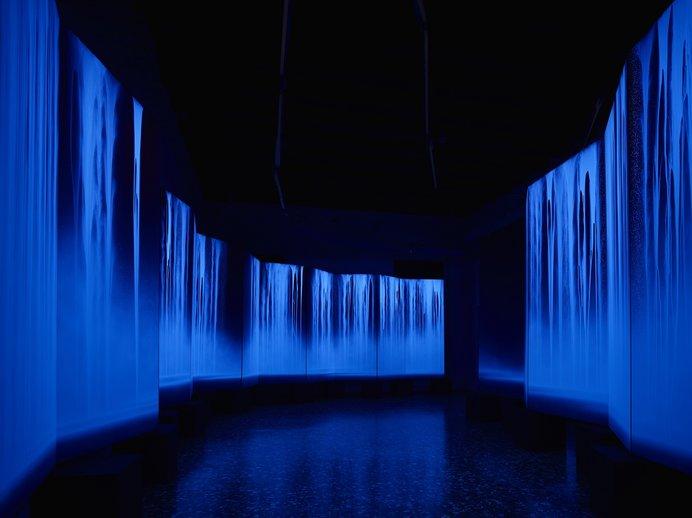 《龍神Ⅰ・Ⅱ》2015年 軽井沢千住博美術館蔵(2015年ヴェネツィア・ビエンナーレの展示風景)
