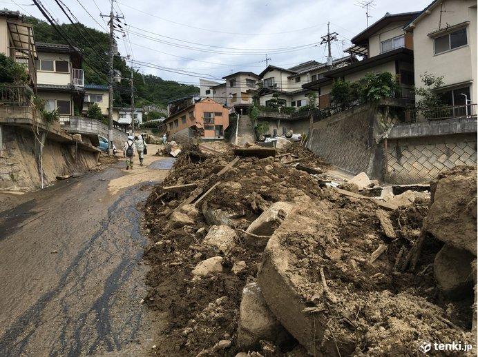 広島県安芸区の被害のようす