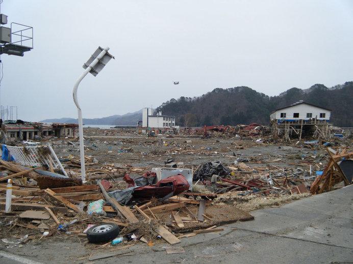 津波によるの被害のようす(出典:東北地方整備局)
