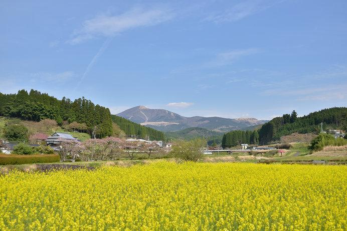 のどかな風景が広がる、北里柴三郎の郷里(現在の熊本県阿蘇郡小国町北里)