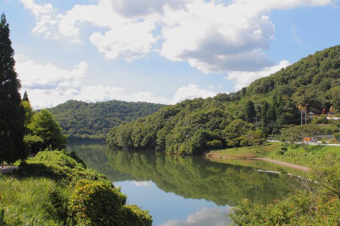 毎年8月には「水上のコンサート」も開かれる千丈寺湖