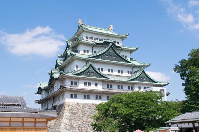 徳川家康ゆかりの城「名古屋城」は白