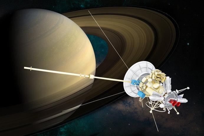 土星といえば探査機「カッシーニ」。さまざまなデータをもたらした(画像はイメージ)