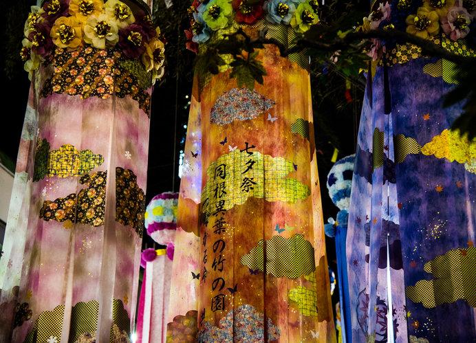「仙台七夕まつり」期間中は、街中が約3000本の豪華な七夕飾りで埋め尽くされる