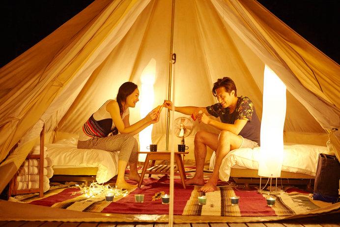 グランピングでワンランク上のキャンプを体験