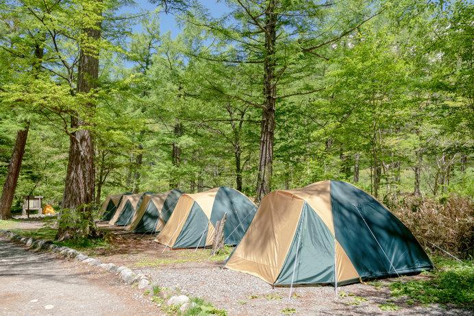 区画が決められたキャンプ場は初心者向け