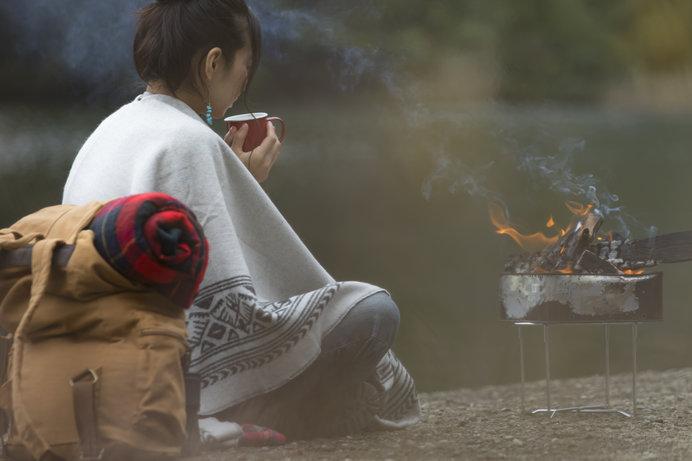 パチパチという木のはぜる音と炎は、抜群の癒やし効果が!
