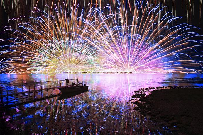 諏訪湖の花火(長野県)