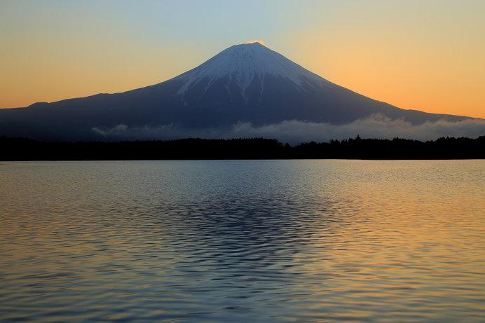 富士山と小波