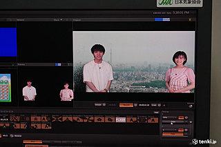 映画「天気の子」醍醐虎汰朗&森七菜が日本気象協会にやってきた~気象キャスターを体験~