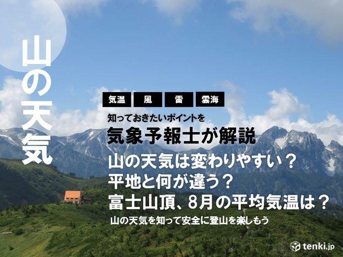 街中とは違う山の天気の特徴とは?