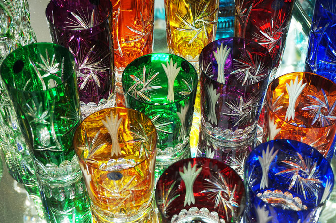 美しいボヘミアン・グラスはチェコを代表する工芸品