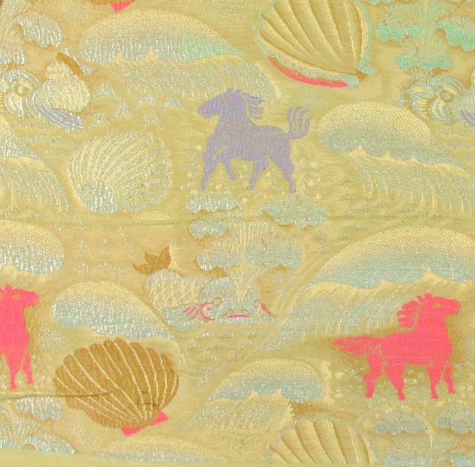 《貝殻と海の馬》1922-24年頃 金銀糸の入った錦 デュフィ・ビアンキーニ蔵