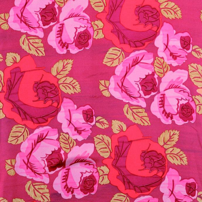 《薔薇》1980年(テキスタイル制作) 絹紬 デュフィ・ビアンキーニ蔵