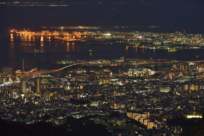 六甲山「天覧台」からの夜景