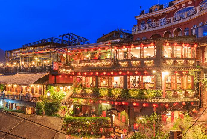 観光名所 台湾九份夜景