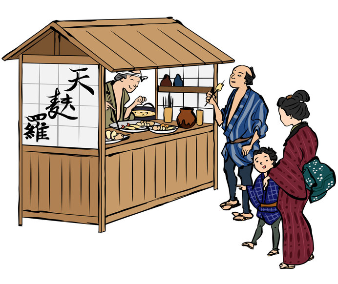 今ではお祭りの時くらいしか見かけない屋台。キッチンカーと呼ばれておしゃれにアップデートしていますね