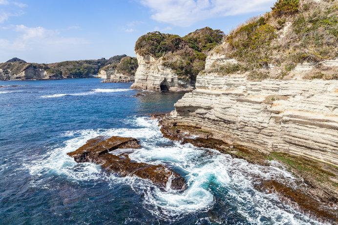 勝浦海中公園付近の美しいリアス式海岸
