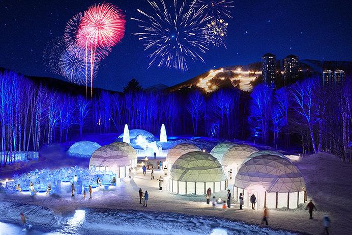 極寒の地に広がる氷の街「アイスヴィレッジ」。星野リゾート トマム(北海道)