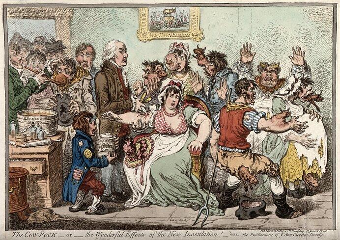 牛痘接種法は画期的なブレイクスルーだった分、反発や誤解も