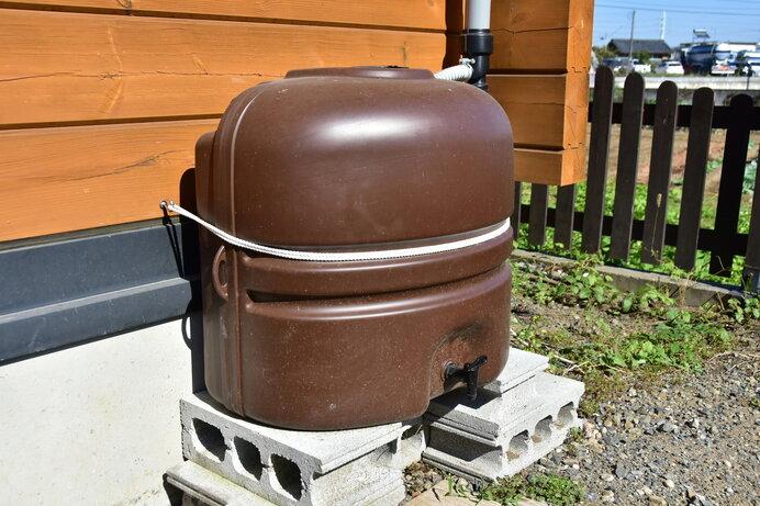 自宅に雨水タンクを設置すると節水ができ、災害への備えにもなります