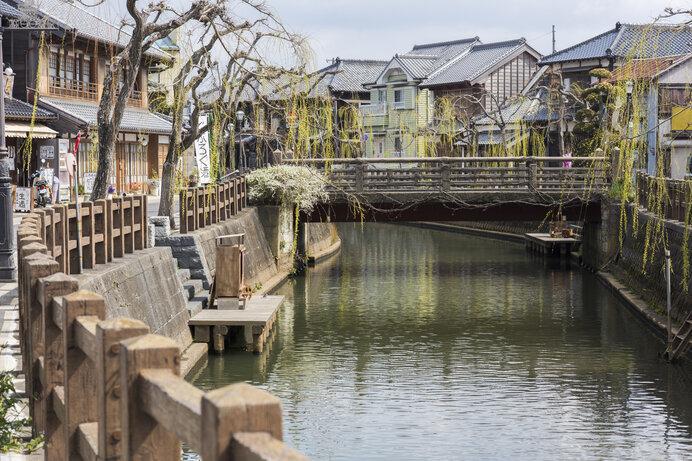 多くの映像作品やCMなどのロケ地となっている小野川沿いの佐原の町並み