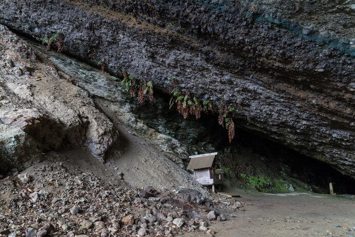 黄泉の入口ともいわれる猪目洞窟