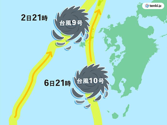 6位 沖縄・九州に立て続けに台風接近 台風10号は接近前から警戒呼びかけ(9月)