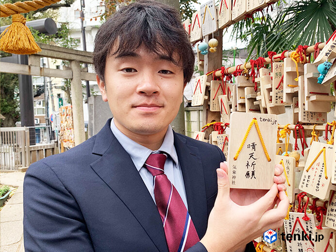 tenki.jpチームで来年の晴天を祈願して絵馬を奉納してきました!