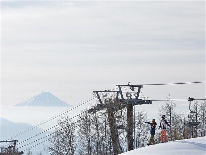 富士山を正面に滑れる絶景コースも/サンメドウズ清里(山梨県北杜市)