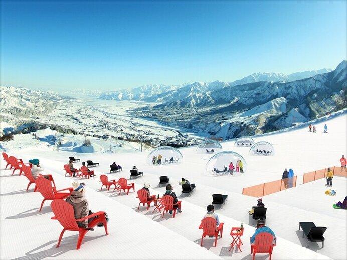 塩沢石打ICから約5分!絶景のスノーガーデンも楽しめる/石打丸山スキー場